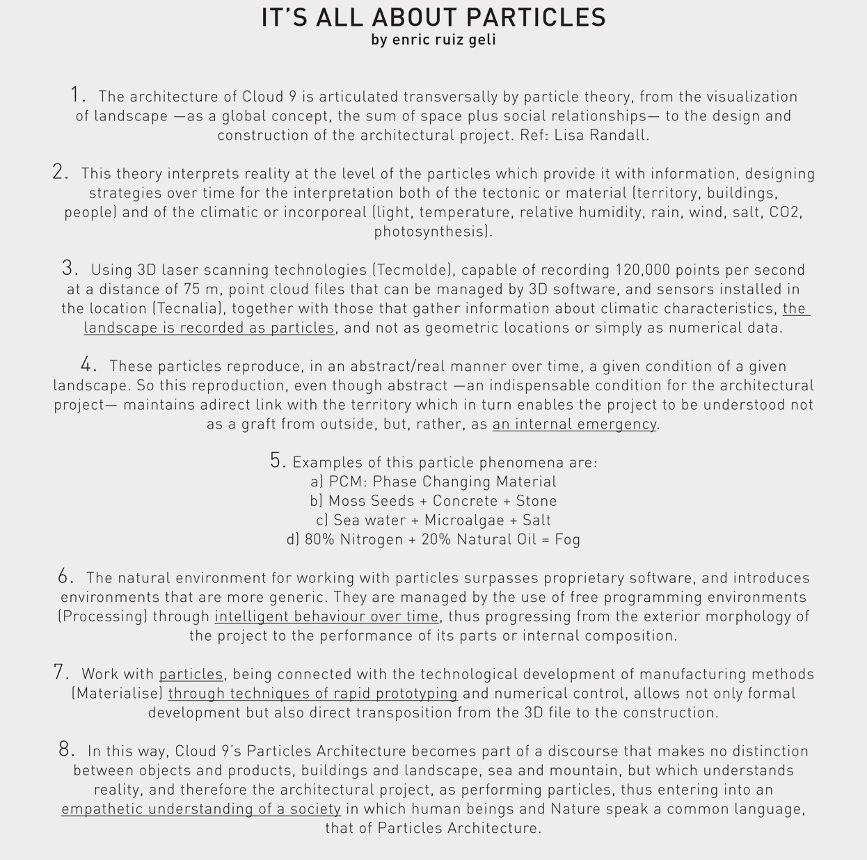 Particles Architecture Is A Theory That Reflects On An Empathetic  Understanding Of Society From The Visualization Of Landscape To The Design  And ...